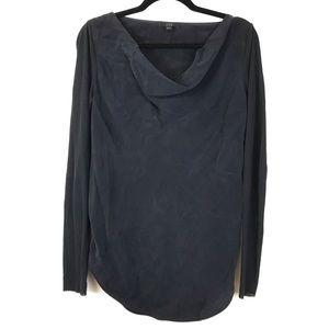 COS Dark Blue Cowl Neck Long Sleeve Blouse